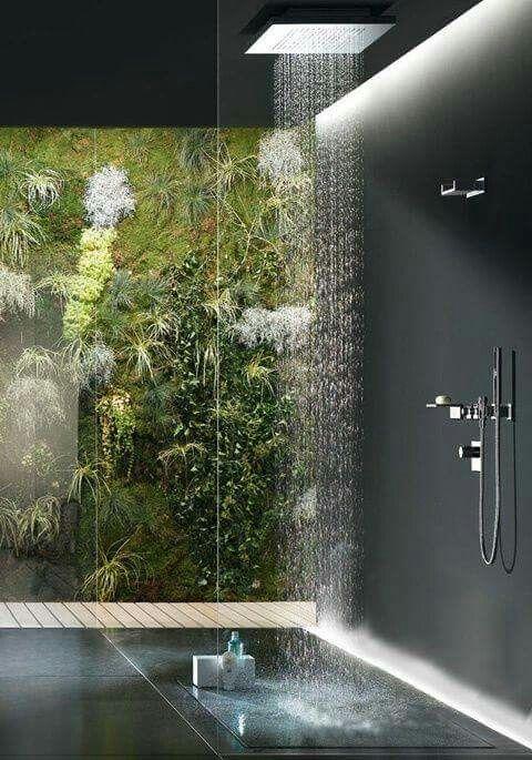 Amazing nature rain shower