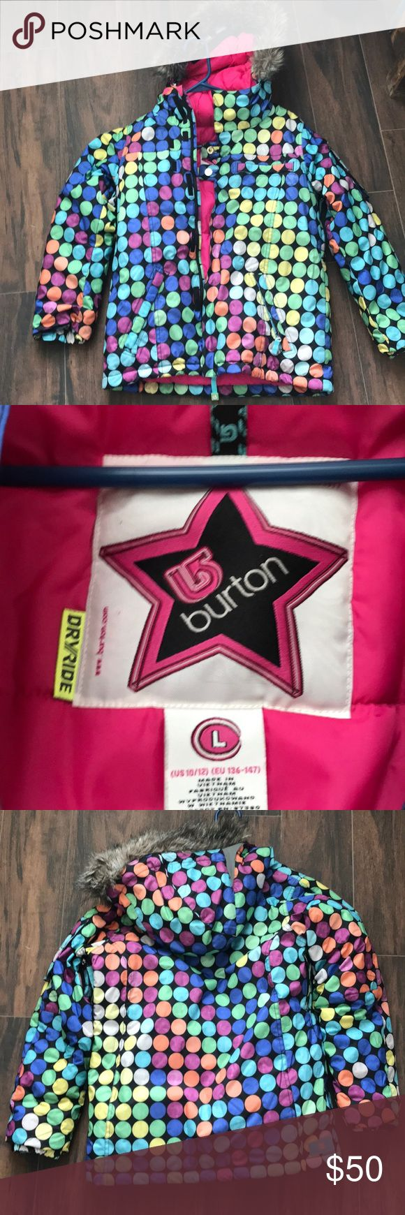 Ski jacket Girls Burton ski jacket. Like new. Worn 1 Day!!! Size 10-12 burton Jackets & Coats Puffers