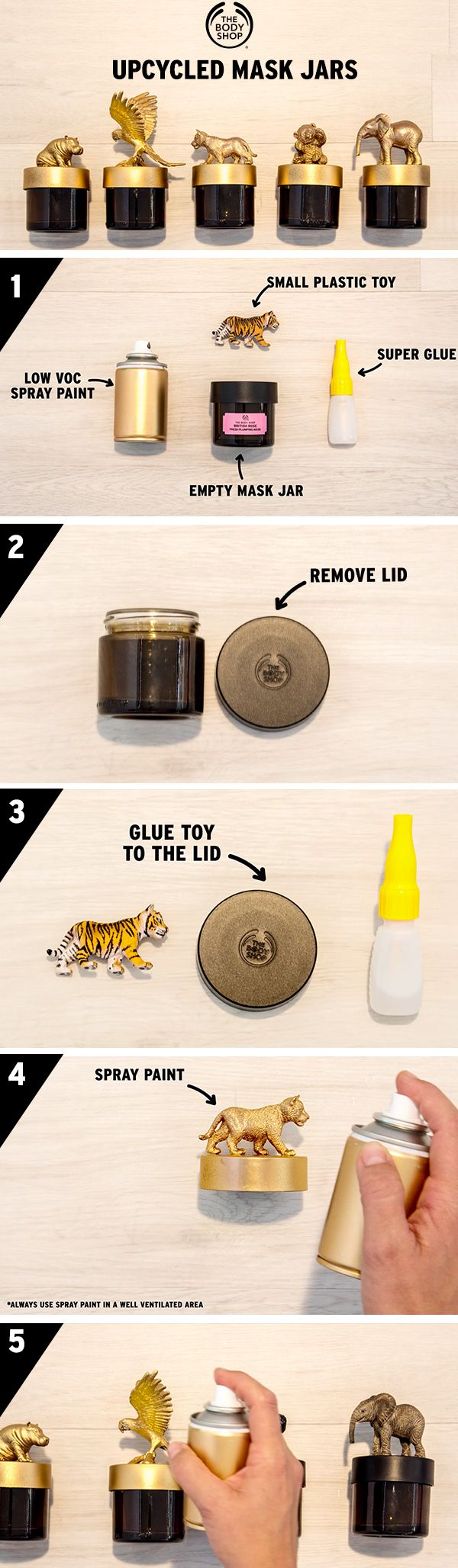 Finished your The Body Shop face mask? Don't throw the high-quality glass jar away! In a few easy steps you can upcycle into the coolest personalised trinket box…