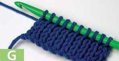 Tunisian Knit Stitch Tutorial*༺✿ƬⱤღ http://www.pinterest.com/teretegui/✿༻*