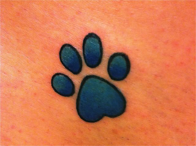 paw print tattoos | The Following User Says Thank You to bean For This Useful Post: