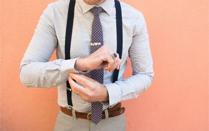 Harvey max Navy Suspenders with a Grape Polka Dot Skinny Tie and Our Vintage Mexican  Tie Clip