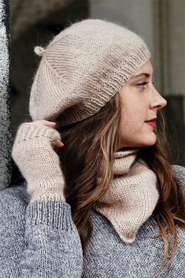 a258d6d6fcd Knitting Pattern for Anouk Accessories Set - Matching beret hat ...