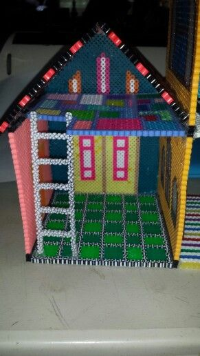 Garage to perler bead doll house