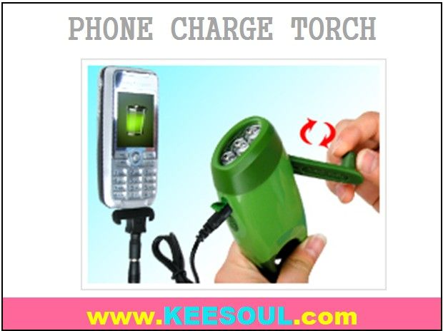crank flashlight can charge mobile phones