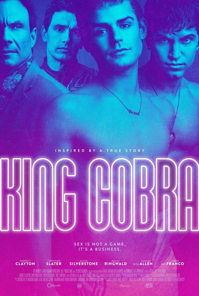 Christian Slater, James Franco, Keegan Allen, and Garrett Clayton in King Cobra (2016)