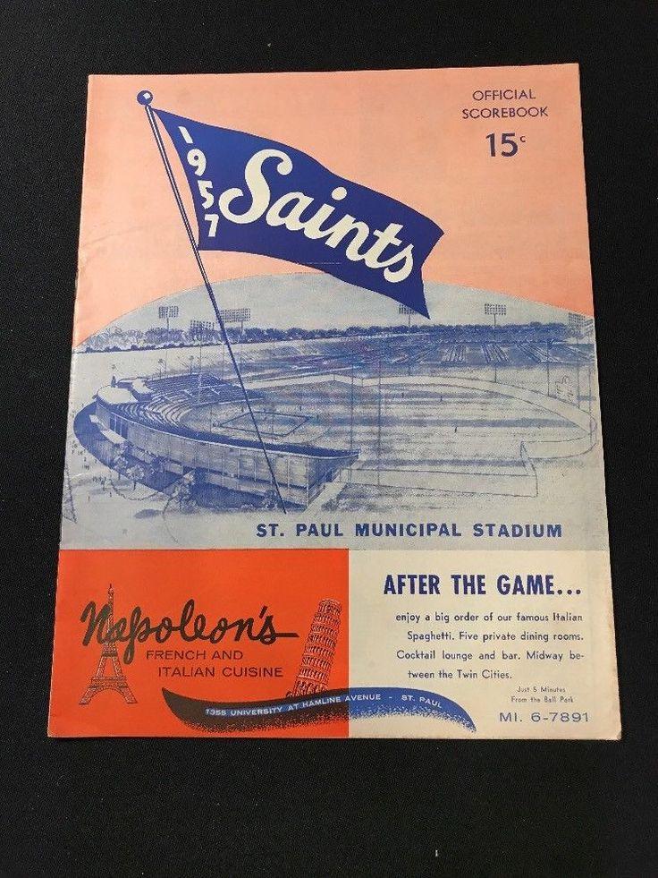 1957 St Paul Saints vs Wichita Braves Minor League Baseball Program | eBay