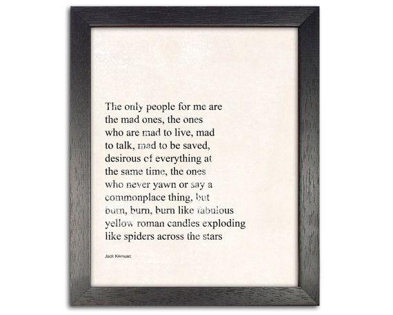 Jack Kerouac jack kerouac quote jack kerouac print by catbrush