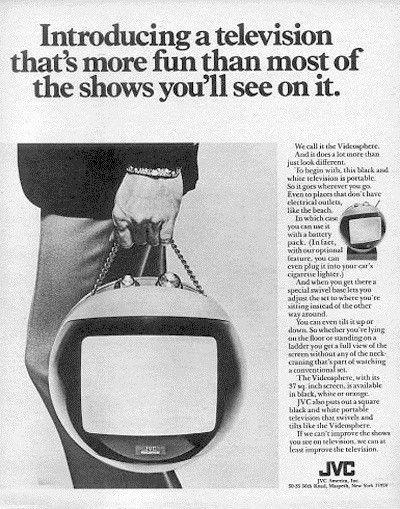 """1971 JVC Videosphere TV Ad """"Space Helmet"""""""