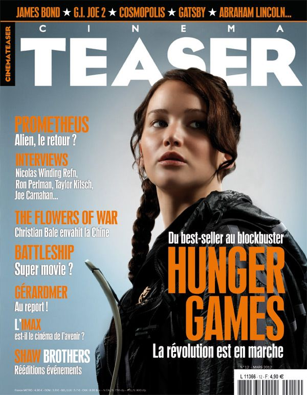44 best jennifer lawrence magazine covers images on pinterest lets check the last issue of french movie magazine cinemateaser with the hunger games on cover voltagebd Image collections