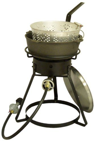 Special Offers - King Kooker 1644 16-Inch Bolt Together Outdoor Propane Cooker with Cast Iron Pot Package - In stock & Free Shipping. You can save more money! Check It (March 24 2016 at 01:51PM) >> http://outdoorgrillsusa.net/king-kooker-1644-16-inch-bolt-together-outdoor-propane-cooker-with-cast-iron-pot-package/