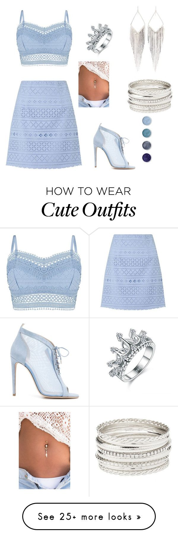 """""""Cute summer outfit"""" by mercy11 on Polyvore featuring Lipsy, Chloe Gosselin, Jules Smith, Charlotte Russe and Terre Mère"""