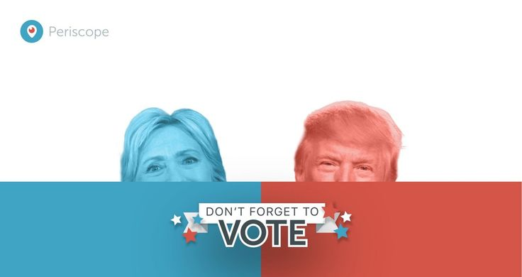 Periscope、SnapchatライクなARマスク機能を追加...米大統領選挙に合わせクリントン氏とトランプ氏のマスクを追加 | Pedia News
