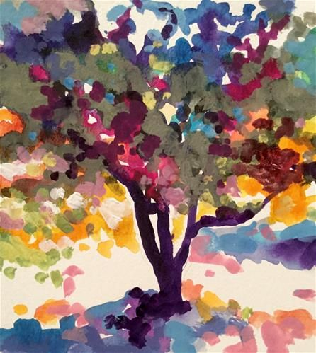 """Daily Paintworks - """"Olive Tree"""" - Original Fine Art for Sale - © Patricia MacDonald"""