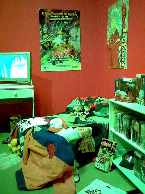 17 best images about anime rooms on pinterest boy wall for Dragon ball z bedroom ideas