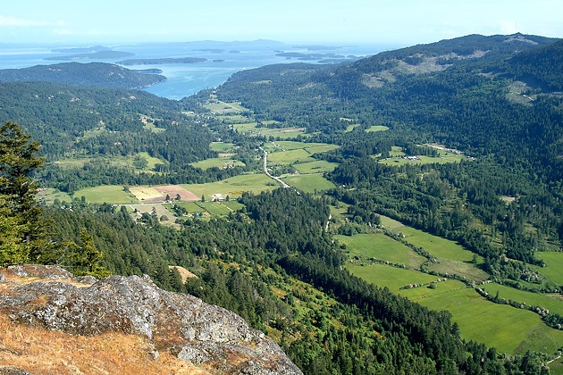 View from Mt Maxwell on Salt Spring Island, BC