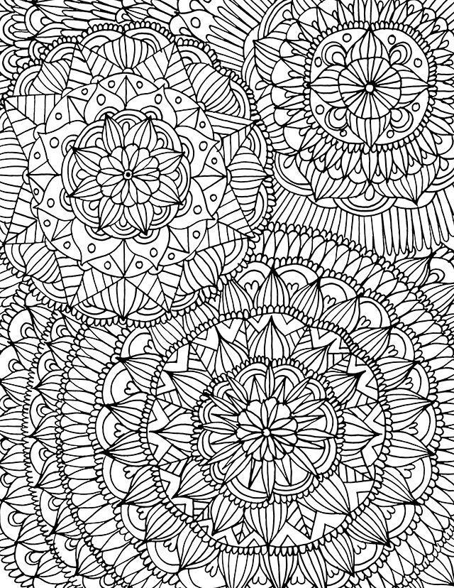 Displaying Mandala Coloring Page