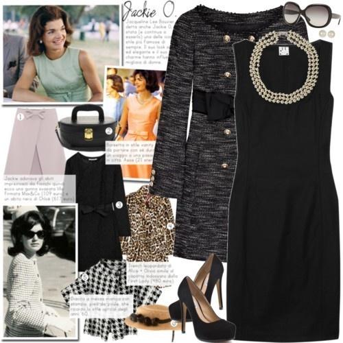 Jackie o style black dress coat