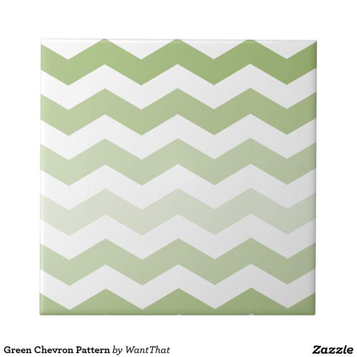 Het groene Patroon van de Chevron Tegeltje Vierkant Small