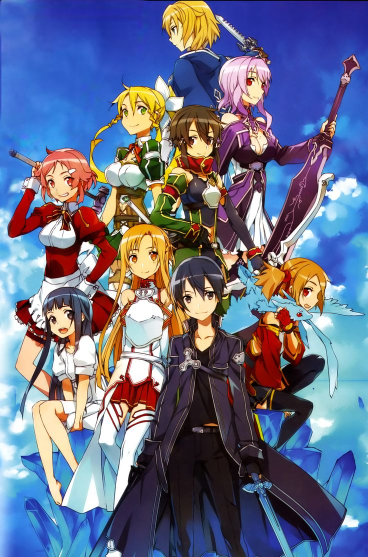 Sword Art Online, my favorite show. It's awesome you should watch it