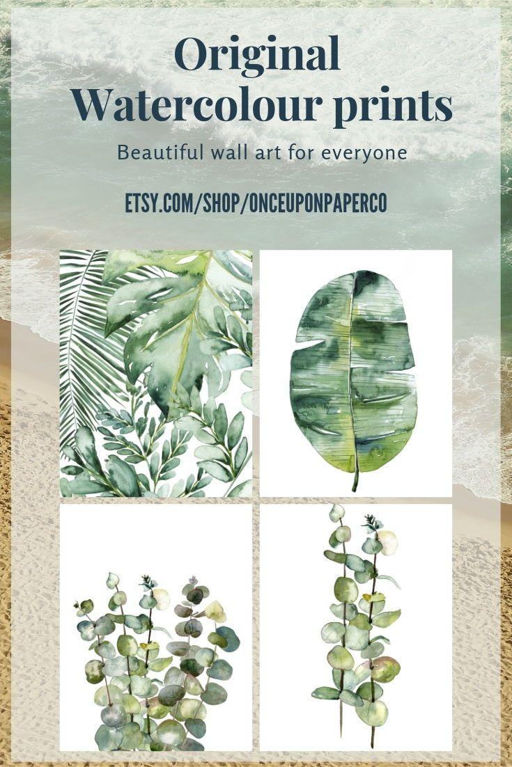 Botanical Print Set Large Printable Watercolor Illustration