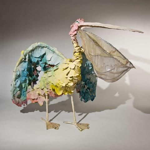 Nathalie Djurberg, bird sculptures
