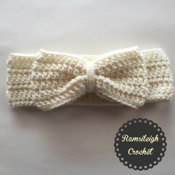 Free Crochet Pattern Headwrap : Crochet Bow Headwrap {FREE PATTERN} N?rklerier ...