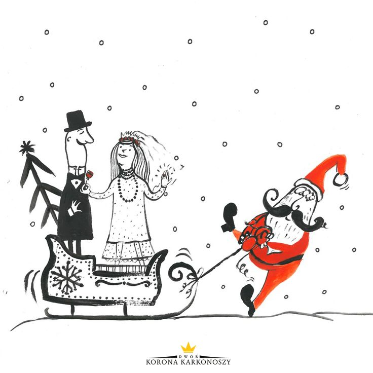 #SantaClaus #snow #snowing #sledge www.weddingpoland.com