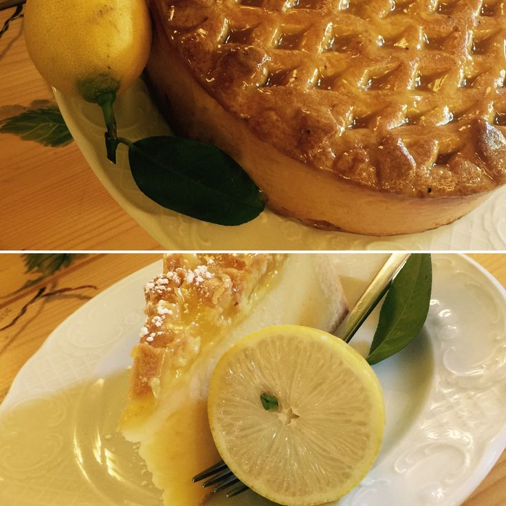 fresh cheese lemon puff pastry tart