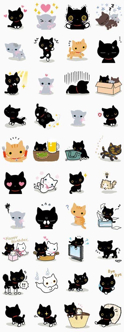 Kutsushita Nyanko ¡un gato con calcetinitos! Estos stickers tan adorables son imprescindibles para los amantes de los gatos.