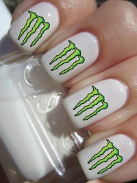 Monster Energy Nail design