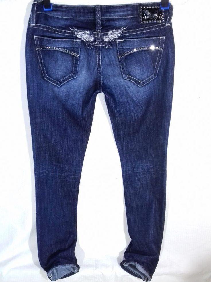 ROBIN'S JEANS Diamond Slim Leg  Marylin style Size W29    Made in USA #RobinsJean #SlimSkinny