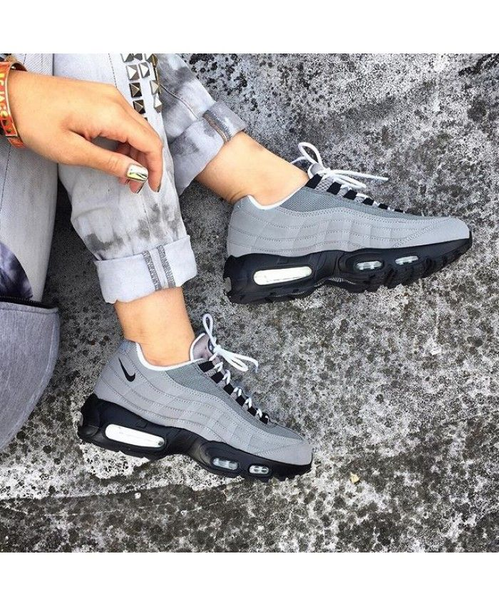 Womens Nike Air Max 95 Wolf Grey Black Trainer