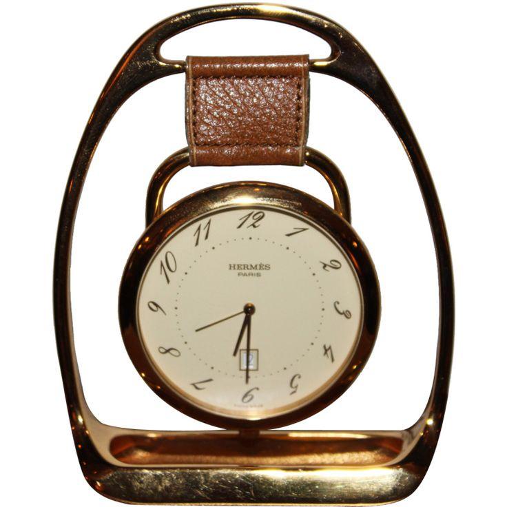 Mantiques Modern / Hermes Horse Stirrup Clock