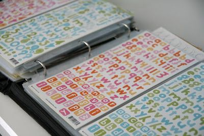 Store stickers in a page-protected three-ring binder!