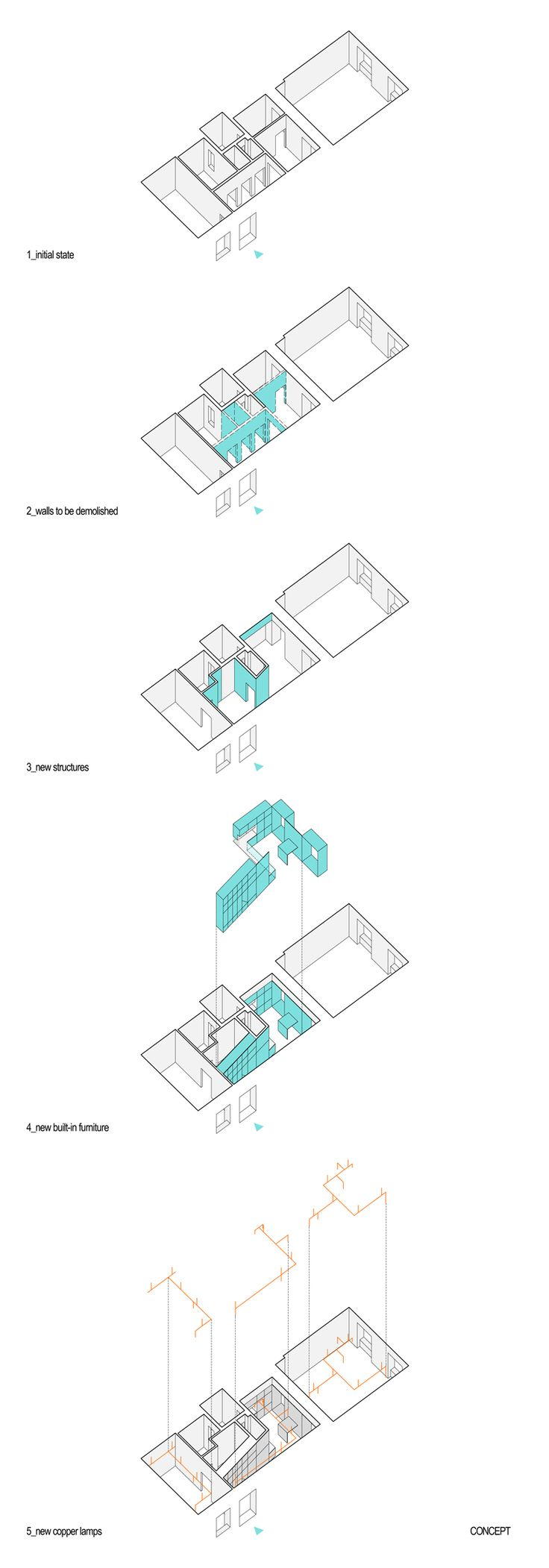 17 best images about diagram concept diagram batlab architects took on a remodeling project copper and home in budapest connecting a redesigned apartment networks of copper light wires
