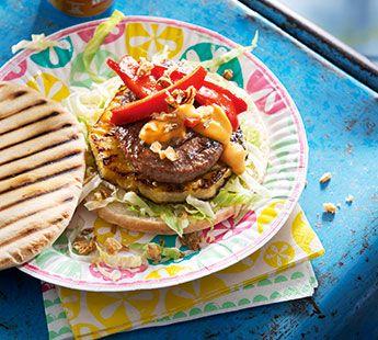 Pitaburger met ananas - Recept - Jumbo Supermarkten