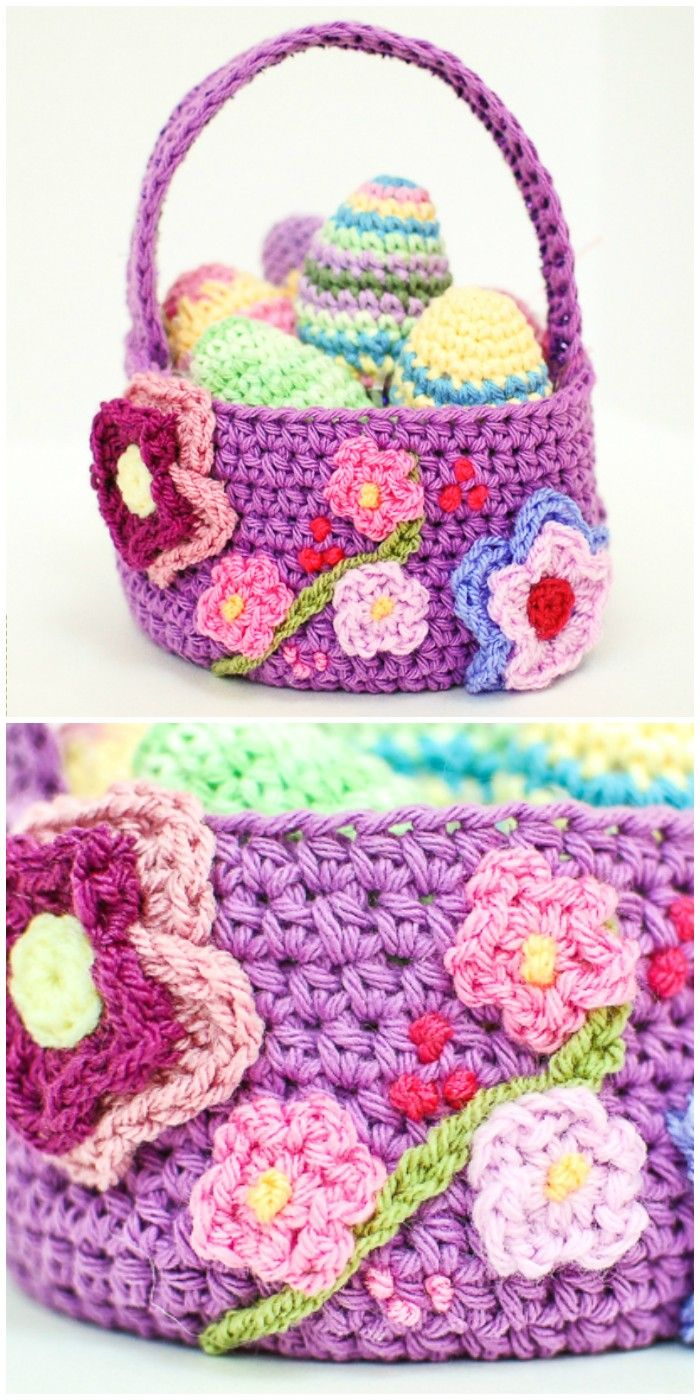 I am going to show you some crochet basket patterns which will increase your home décor!Spring Easter Basket Crochet Pattern