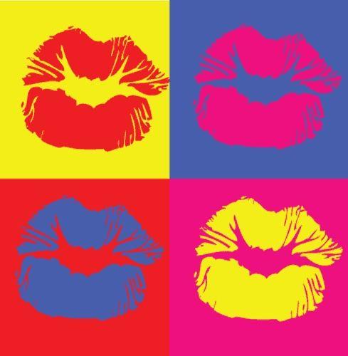 Lábios. Acrílico e tinta para serigrafia sobre linho. Andy Warhol (Pittsburgh, PA, USA, 06/08/1928 - 22/02/1987, Nova York, NY, USA).