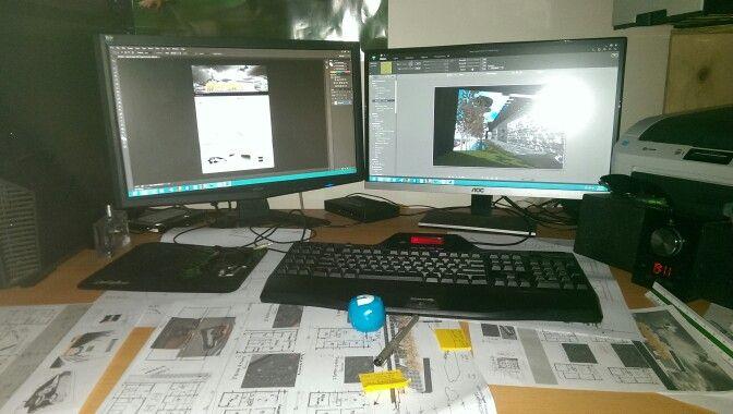 Design assignment rendering photoshop artlantis ArchiCAD