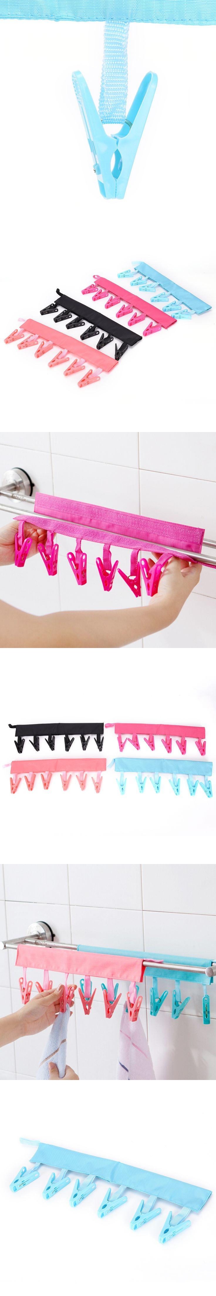 2017 Hot Sale Multifunction Socks Drying Racks Bathroom Rack Traveling Clothespin Travel Portable Folding Cloth Hanger Clips