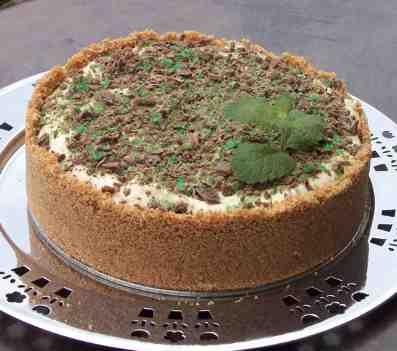 Pepermint crisp cheesecake