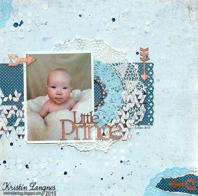 Little Prince,  laget av Kristin hos Scrappelyst.