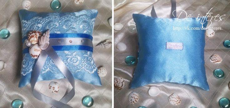 Подушечка для колец от De interes. Ракушки,море.Wedding Ring Pillow, wedding, marriage, nuptials, seashells,the sea