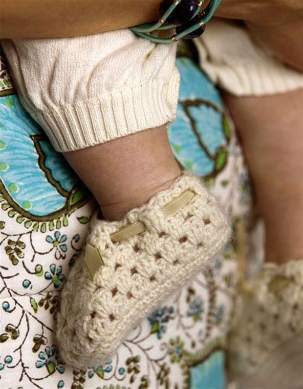 Hæklede babysko - Hendes Verden