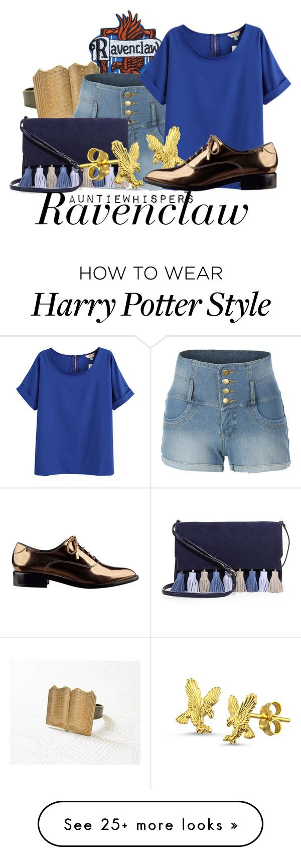 """Ravenclaw"" by auntiewhispers on Polyvore featuring LE3NO, Rebecca Minkoff, Sigerson Morrison, harrypotter and ravenclaw"
