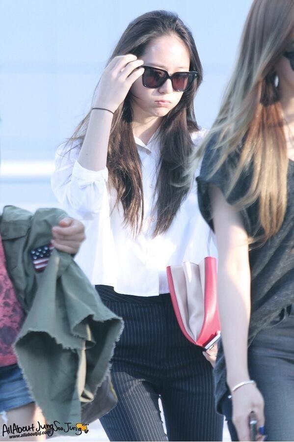 krystal f(x) airport fashion