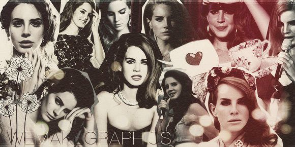 Lana Del Rey Twitter Background | Lana Del Rey Collage ...