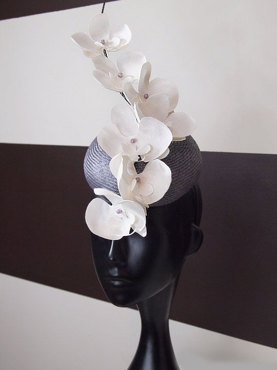 Kentucky Derby Hat Lula Rose White Orchid by LouiseWhiteBoutique