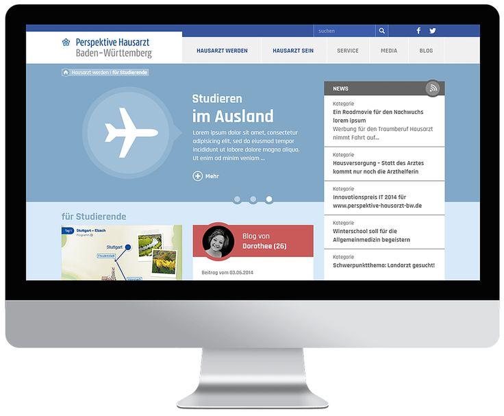 Perspektive Hausarzt Webdesign